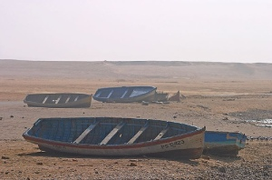 Boats in the desert