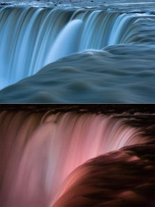 Niagara Falls, day and night