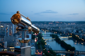 Watching the Seine from Eiffel